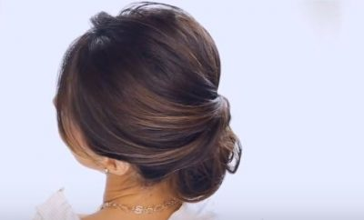 2 minute bun hairstyle