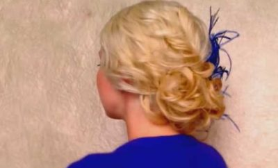 Easy curly updo hairstyle