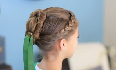 Frozen Inspired Anna's coronation hairstyle