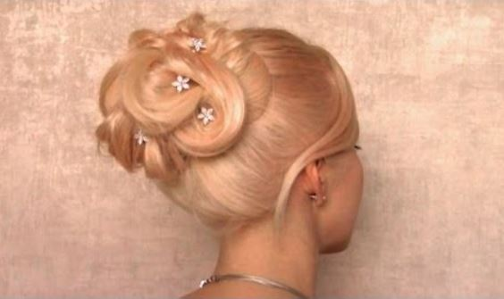 Prom Wedding Bridal hairstyle