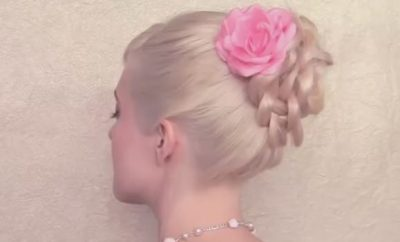 Wedding Hairstyle Braided Flower updo