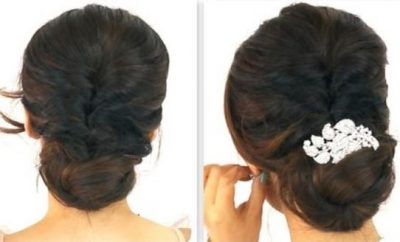 easy party updo hairstyles for long hair
