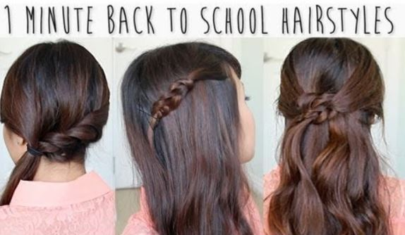 1 Minute back to school hairstyles for medium long hair