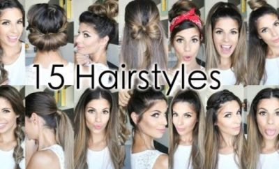 15 Easy and Quick Hairstyles