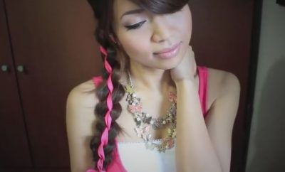 4 Strand Ribbon Braid Headband Hairstyle