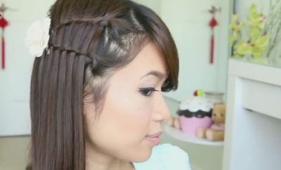 Double Waterfall Twist Hairstyle