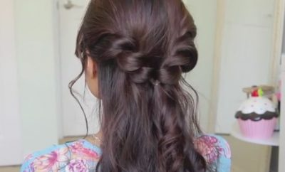 Easy Twist Braid half updo