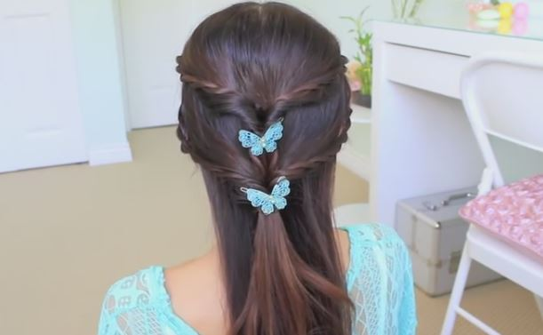 Fancy Rope Braid Half-updo hairstyle