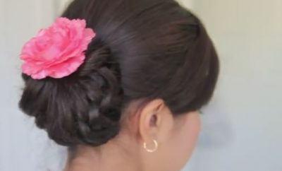 Homecoming Knotted Hair Bun updo hairstyle