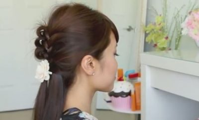 Roller Knotted Braid Hairstyle