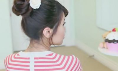 Rope Braid 3D Flower Bun Hairstyle