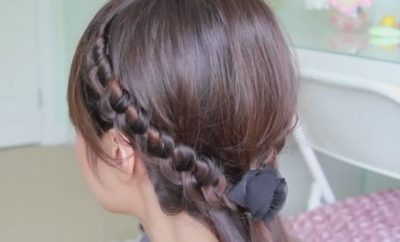 Staircase Knotted Headband Hairstyle