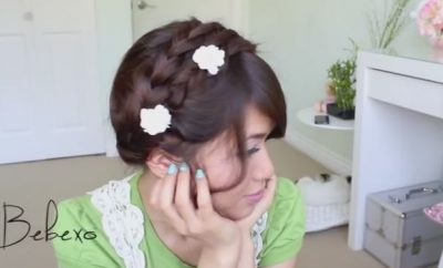 Summer Milkmaid Braided Updo Hairstyle