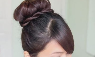 Twisted Sock Bun updo Hairstyle