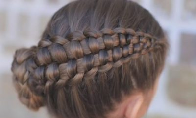 Zipper Braid updo hairstyle